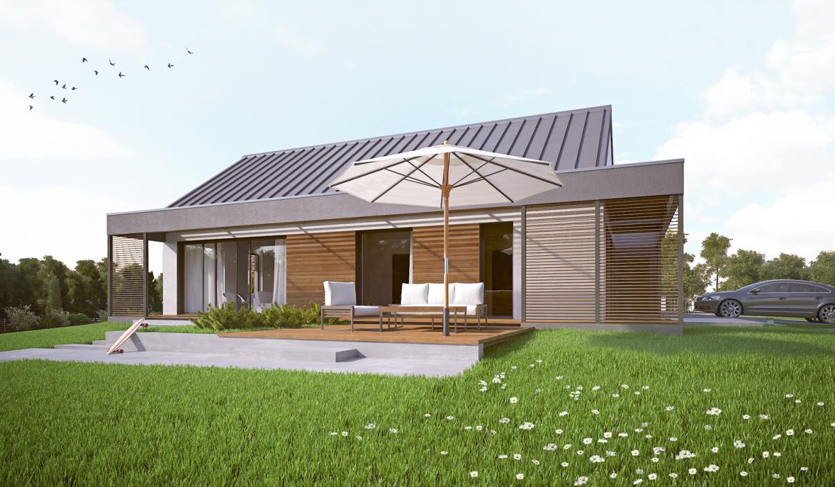 Projekt domu HG 09 dom pasywny dom niskoenergetyczny dom parterowy