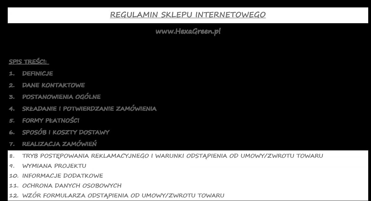 REGULAMIN-spis tresci